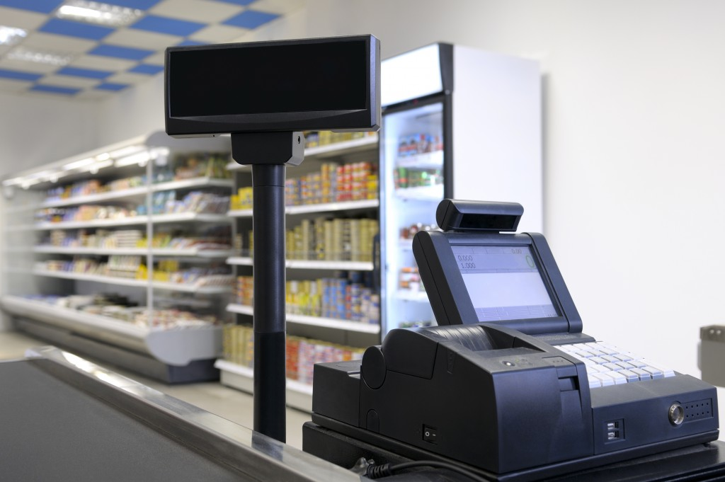 cashier at a grocery